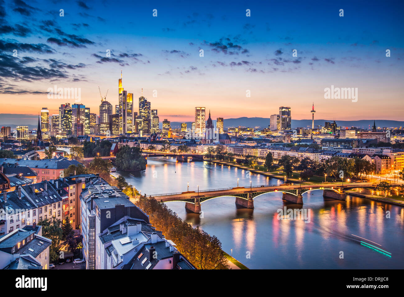 Frankfurt, Germany at the Cathedral. - Stock Image