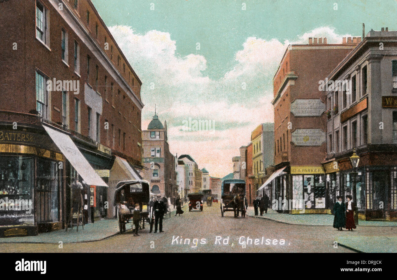 King's Road, Chelsea, London - Stock Image