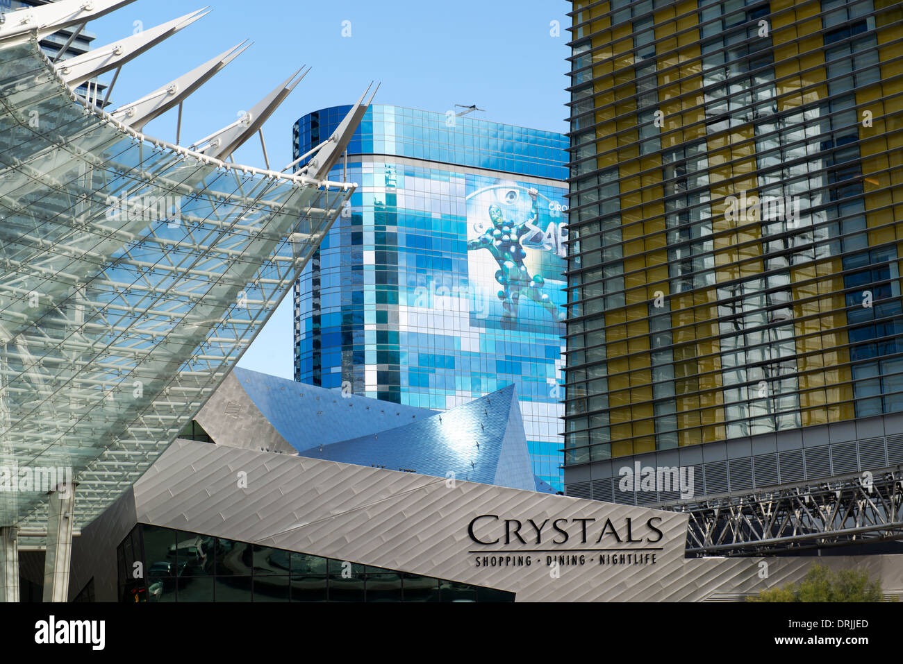 The Crystals Aria complex in Las Vegas. - Stock Image