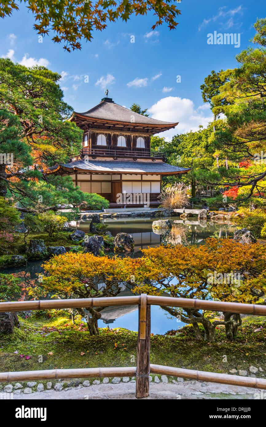 Ginkaku-ji Silver Pavilion during the autumn season in Kyoto, Japan. - Stock Image