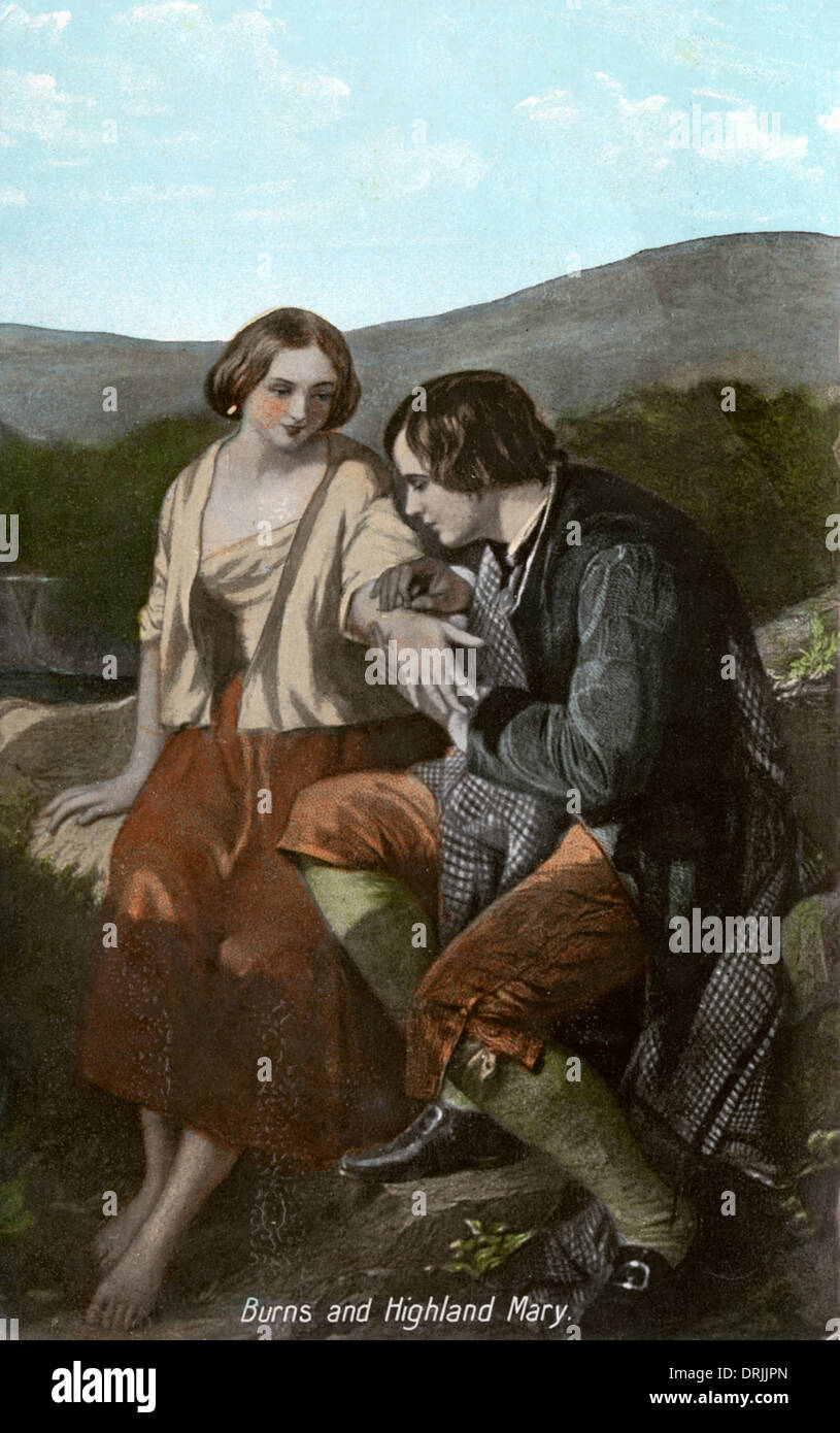 Robert Burns and Highland Mary - Stock Image