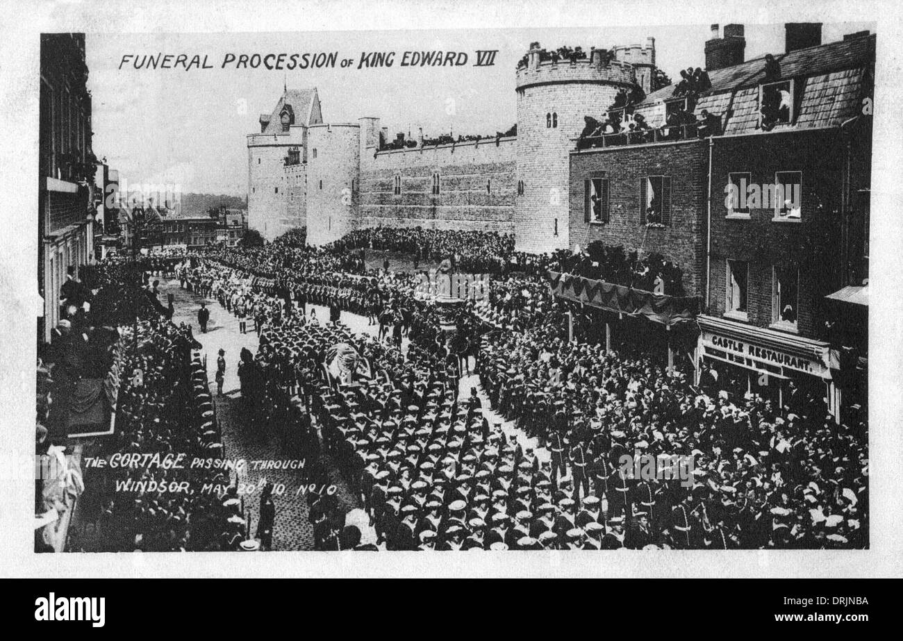 The funeral procession of King Edward VII. - Stock Image