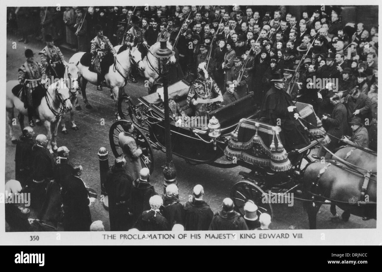 The proclamation of his Majesty King Edward VIII. - Stock Image