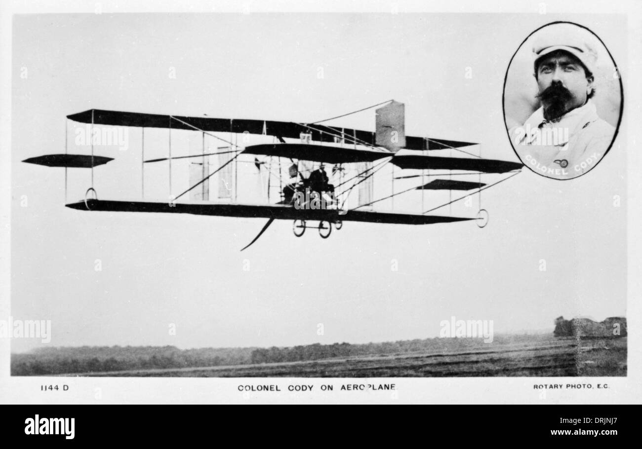 Colonel Cody, an early aviation pioneer. - Stock Image