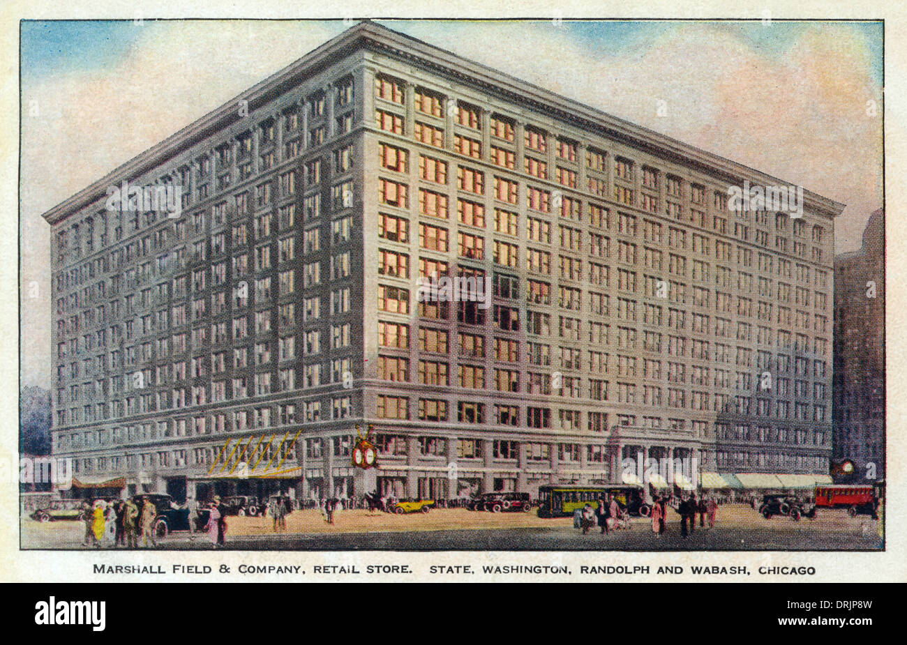 Marshall Field & Company, department store. - Stock Image