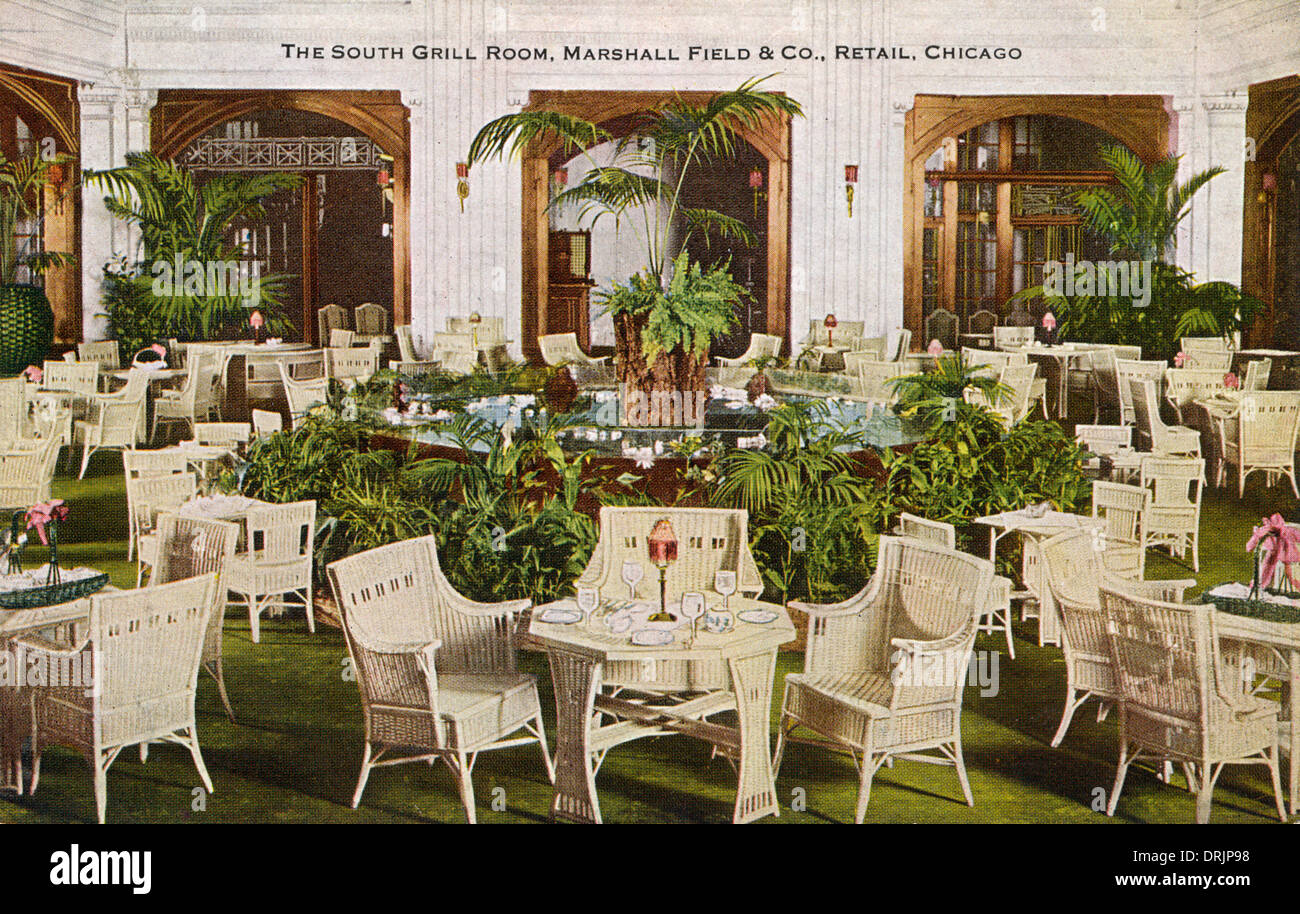 Interior of the Mashall Field & Company department store - Stock Image