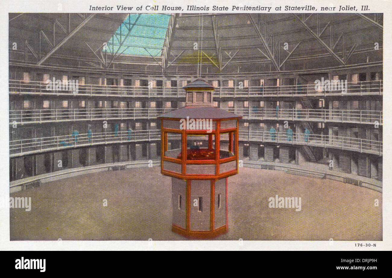 Interior view of the Illinois State Penitentiary - Stock Image