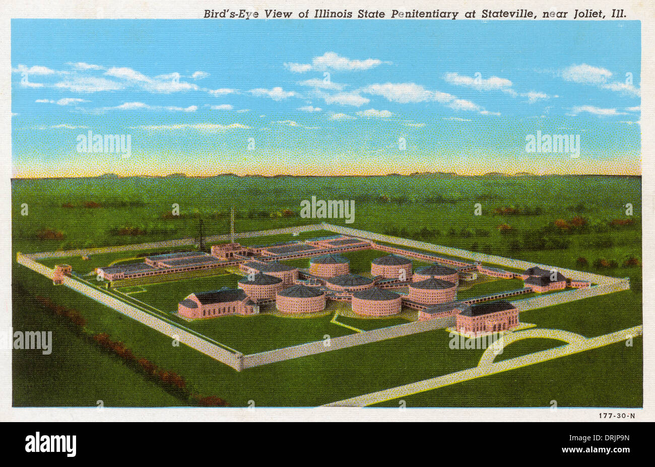 Exterior view of the Illinois State Penitentiary - Stock Image