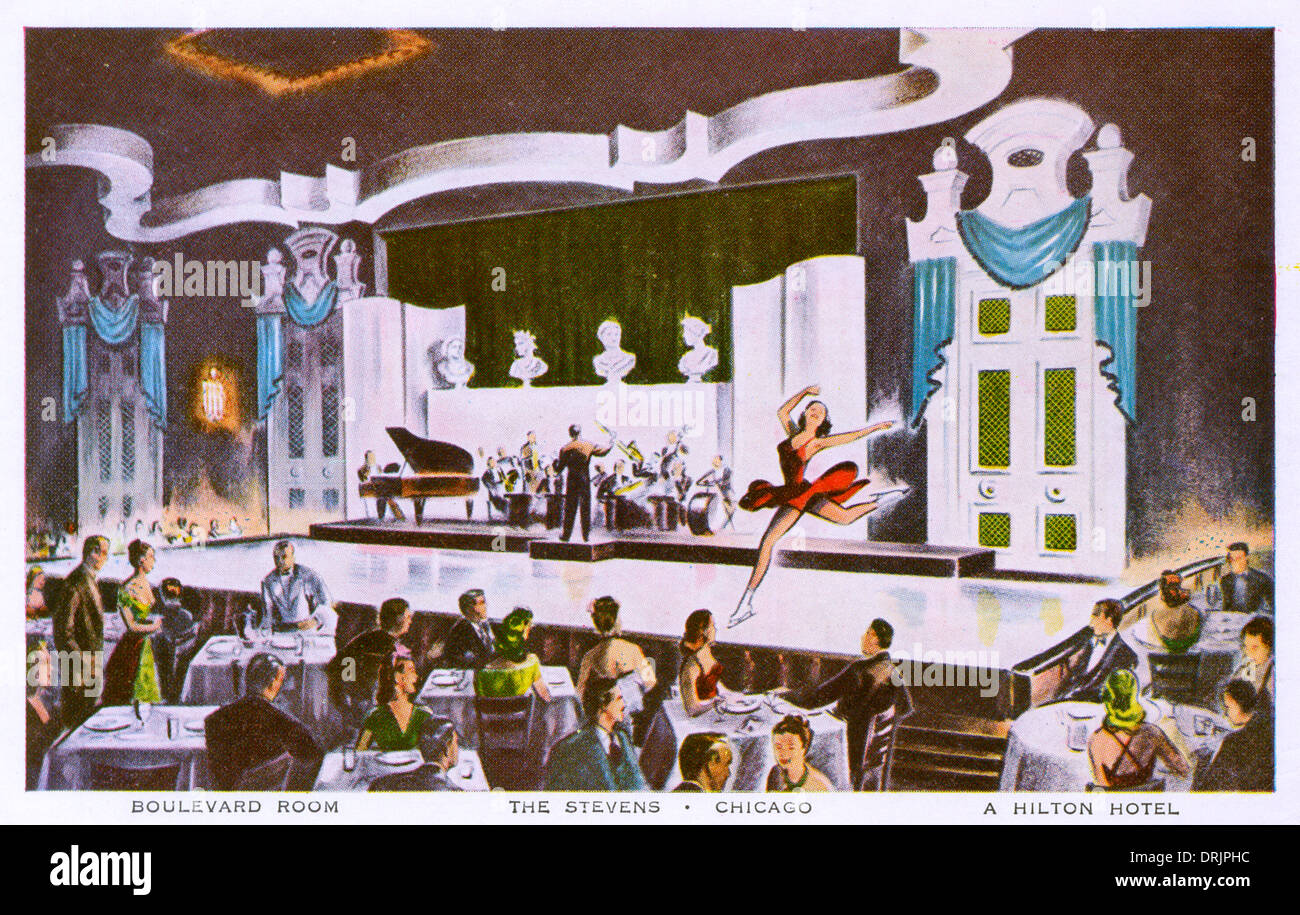 Ice shows at the Stevens Hotel, Chicago - Stock Image