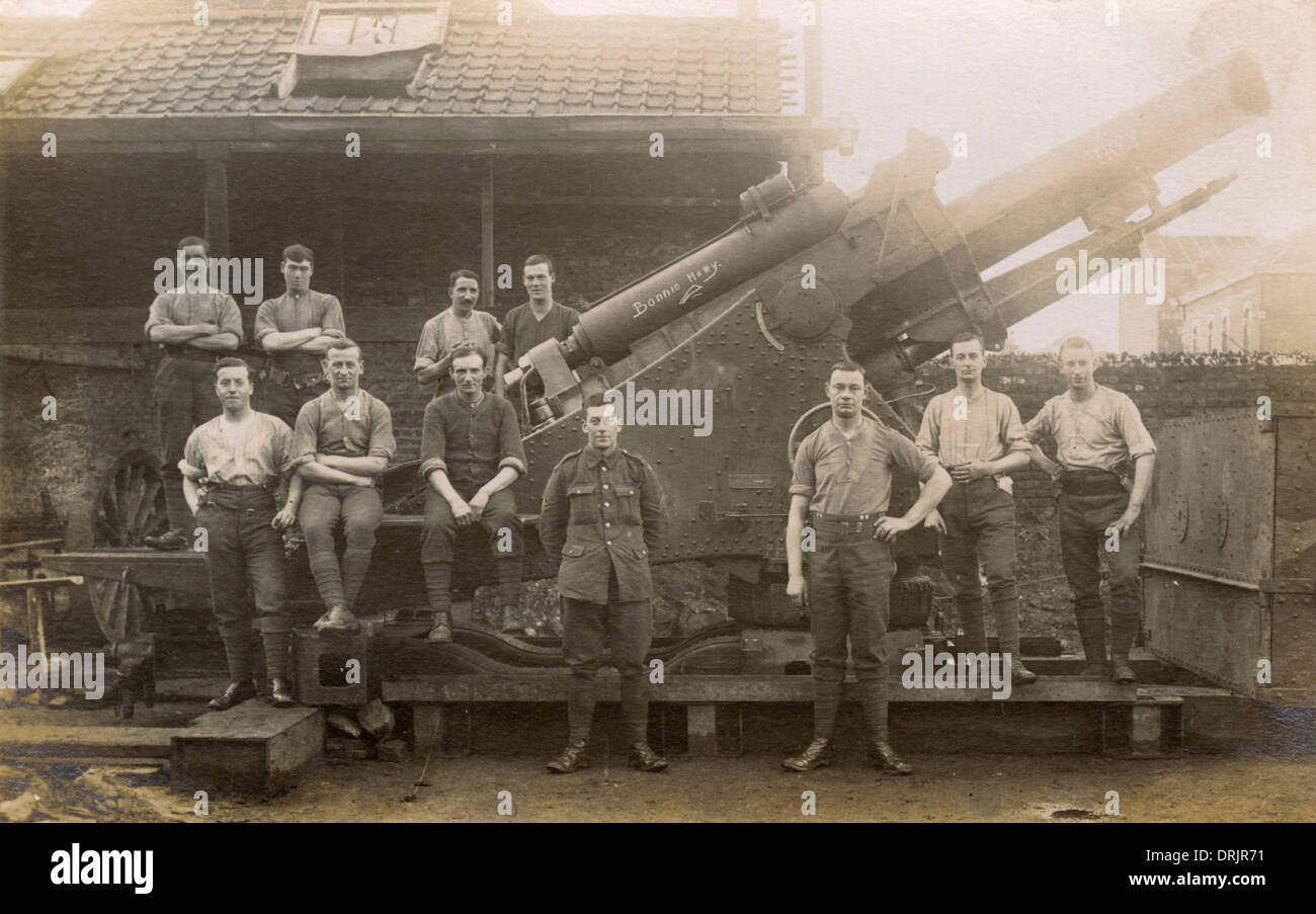 The Royal Artillery core with their gun Bonnie Mary. - Stock Image