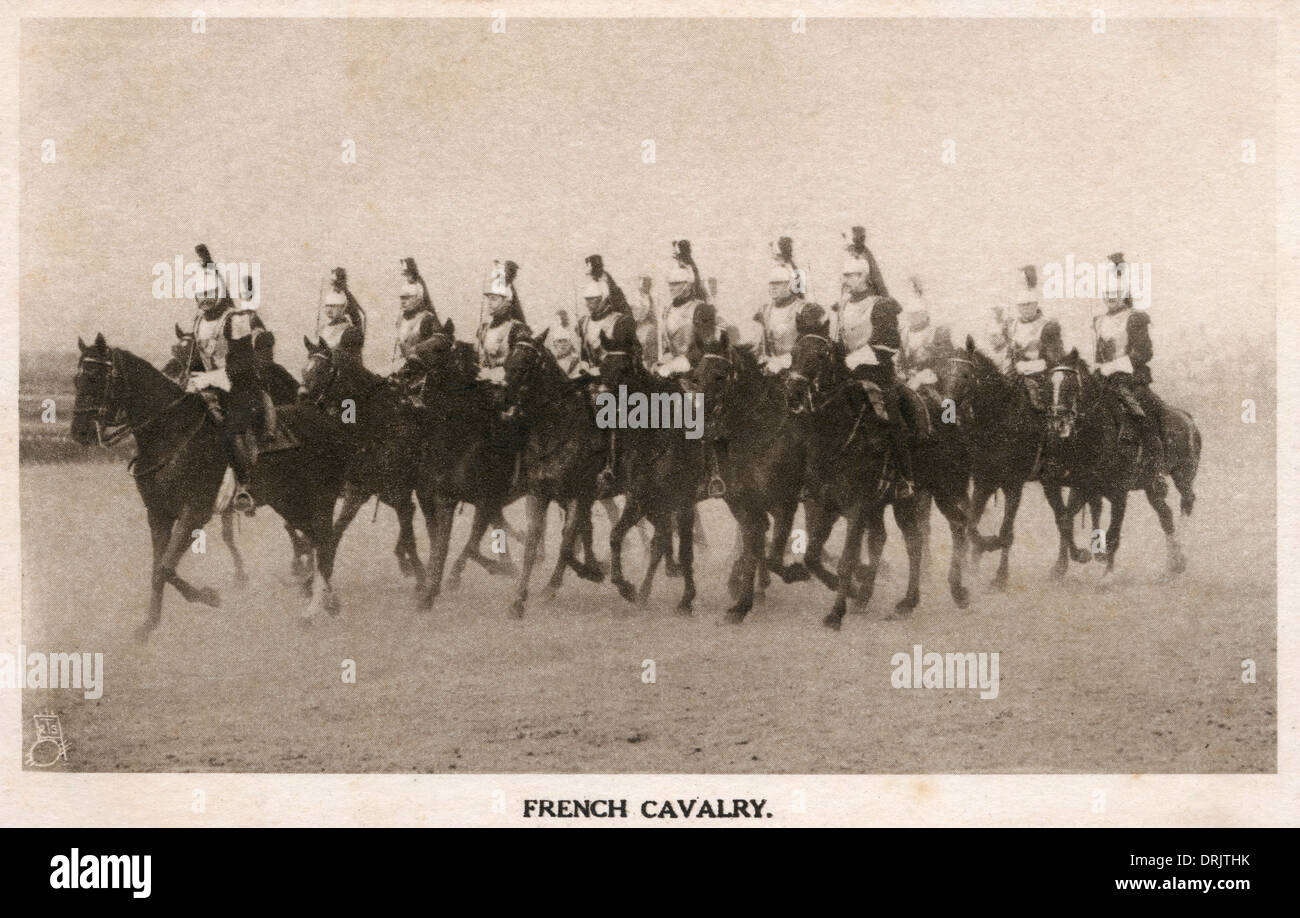 French Cavalry - Just prior to WWI Stock Photo