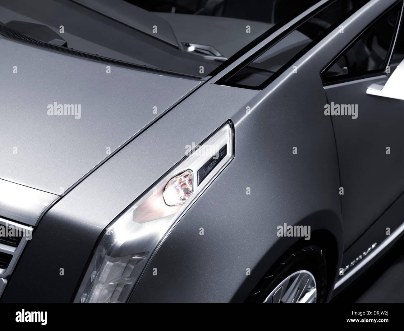 Closeup detail of 2011 Cadillac ULC Urban Luxury Concept car - Stock Image