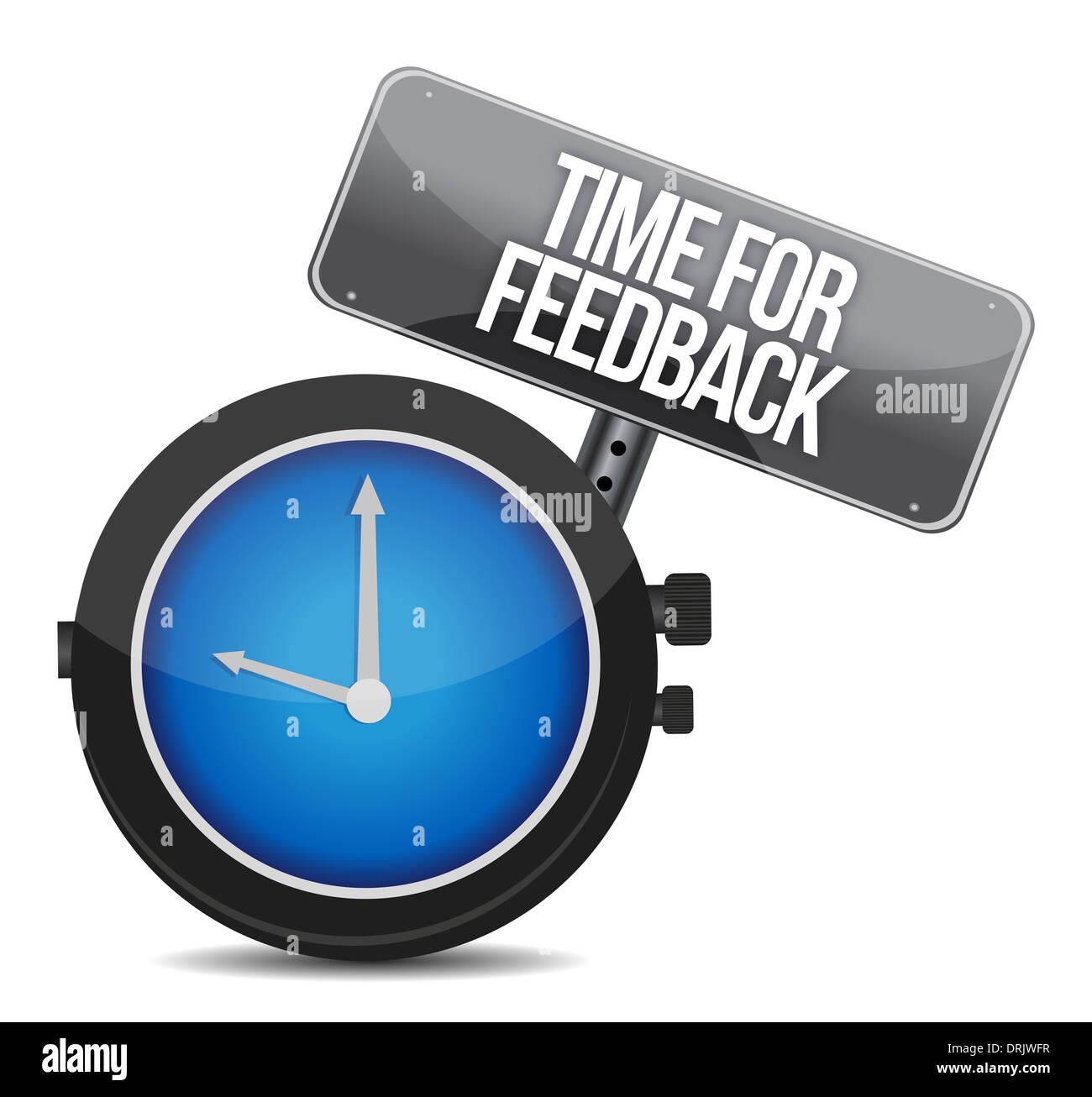 time for feedback illustration design over white - Stock Image