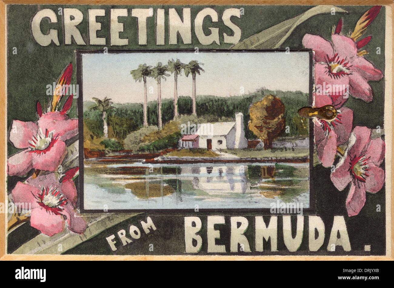 Greetings from Bermuda - Stock Image