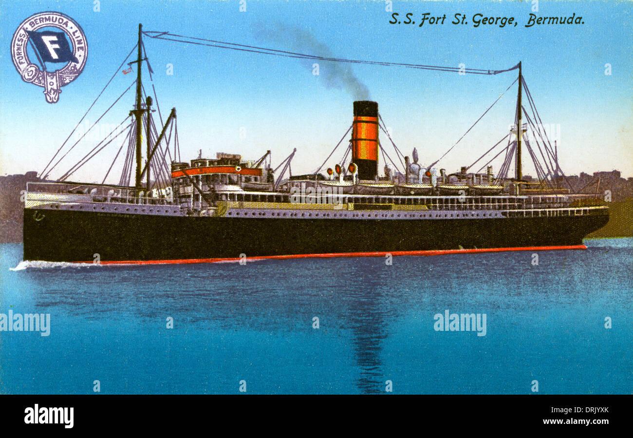 S.S. Fort St. George, Bermuda - Stock Image