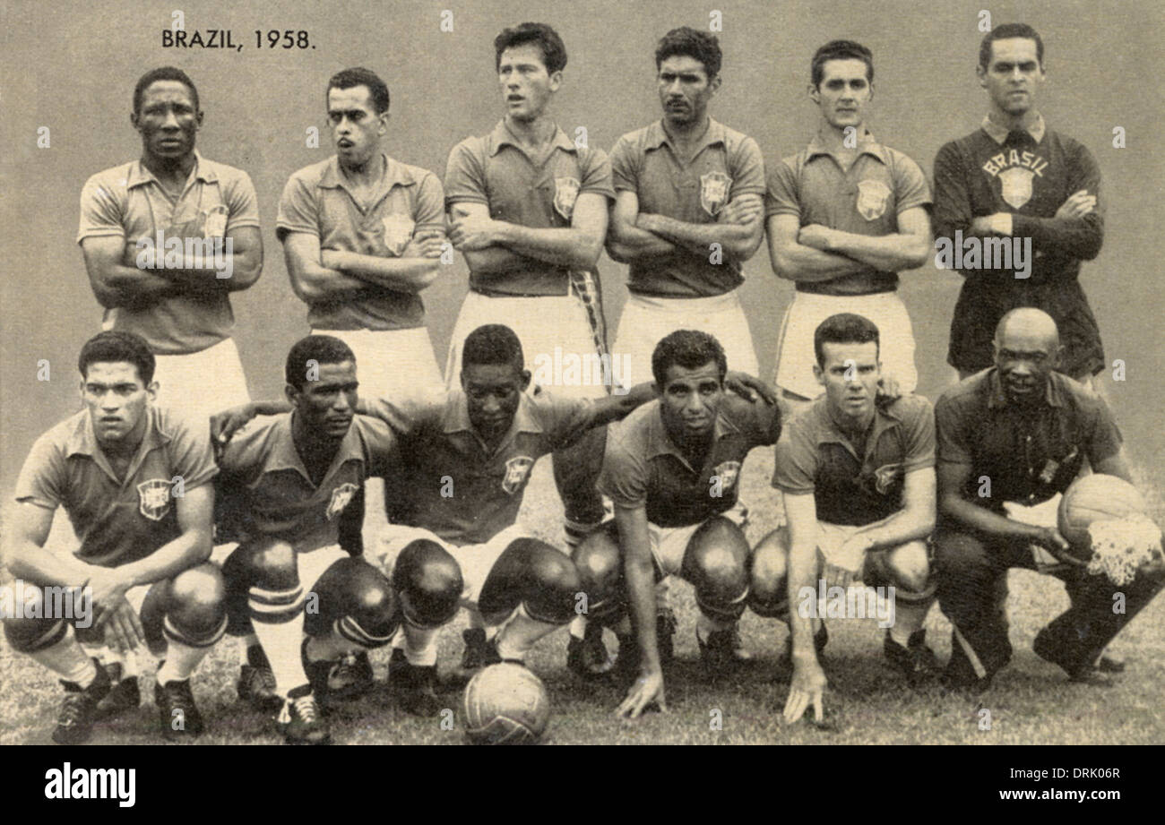 Brazilian Football Team of the 1958 World Cup - Stock Image