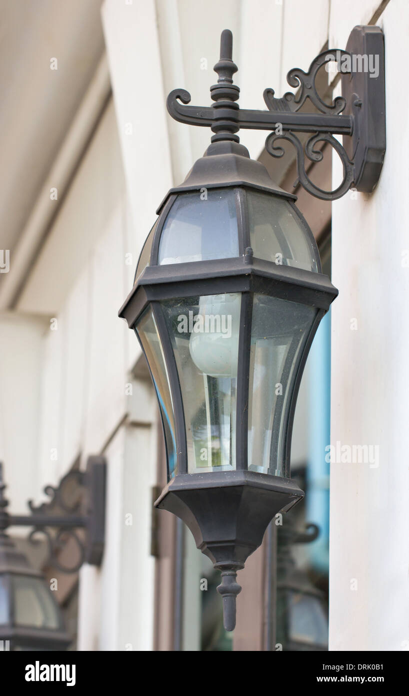 Antique outdoor wall lamp stock photo 66185589 alamy antique outdoor wall lamp aloadofball Images
