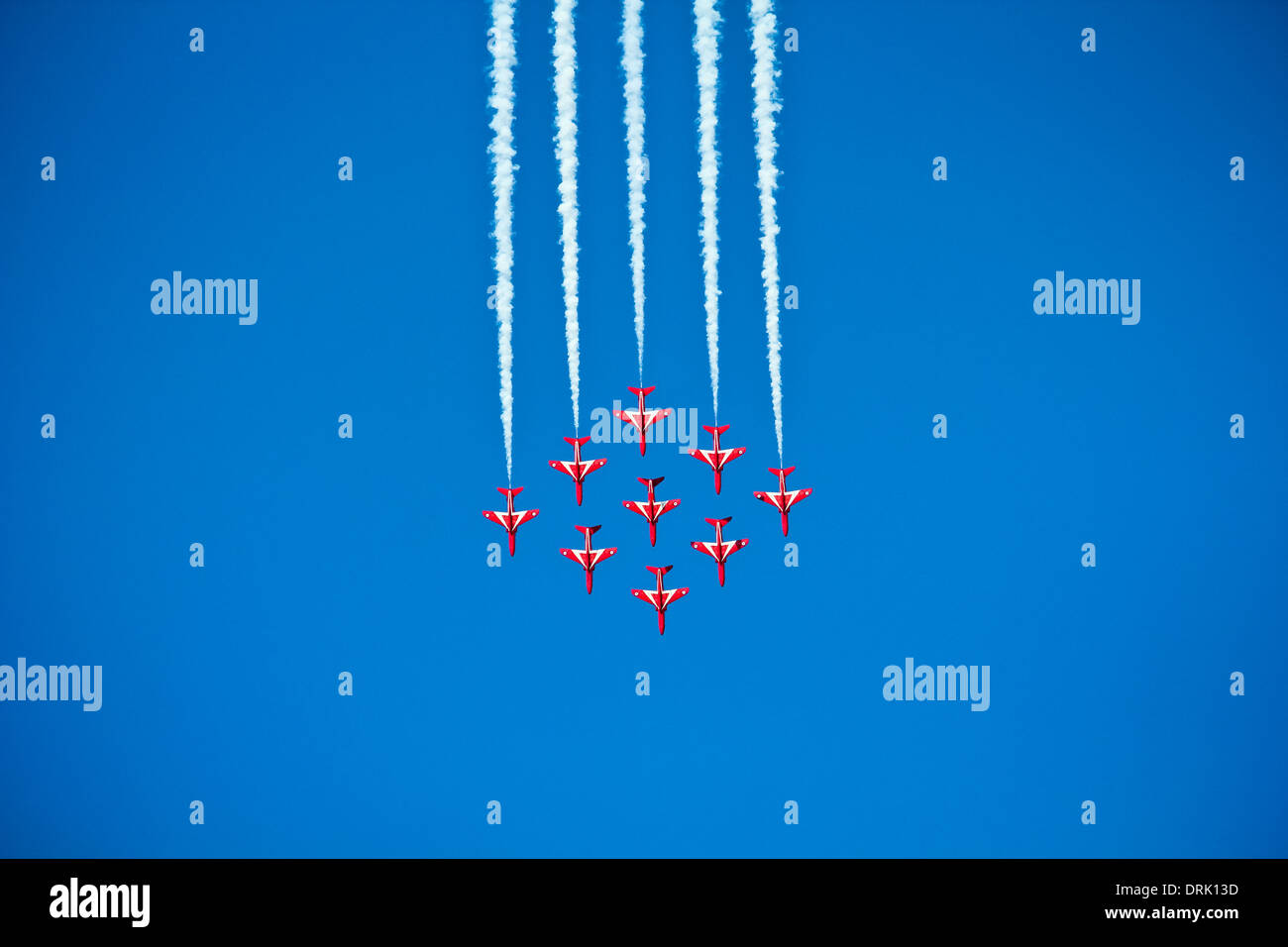 RAF, Red Arrows in Kuwait. - Stock Image