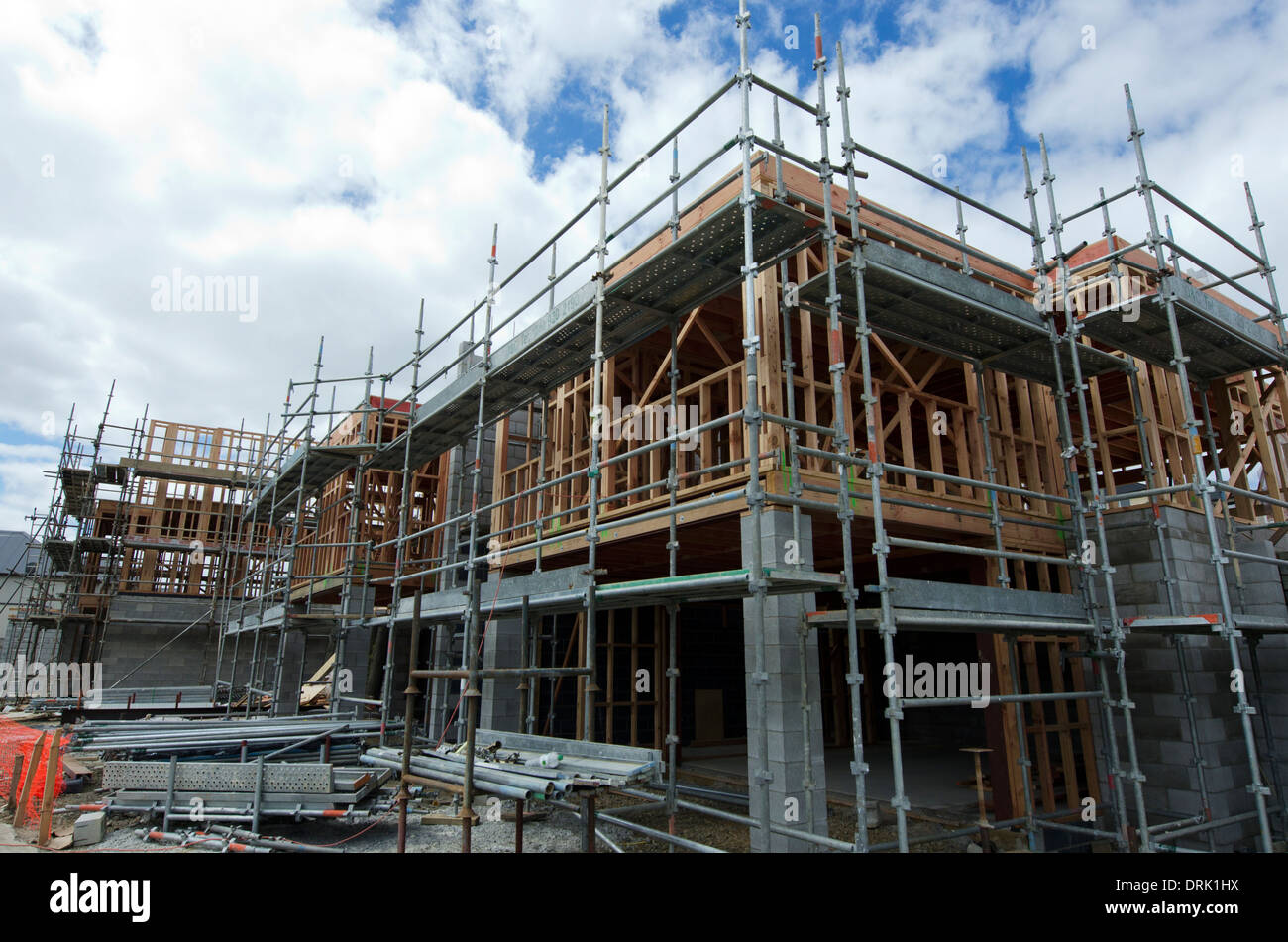 new homes building site in auckland new zealand stock photo