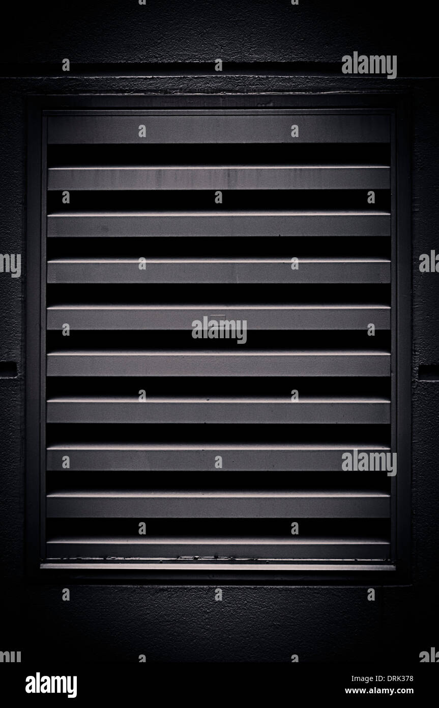 air vent black grid - Stock Image