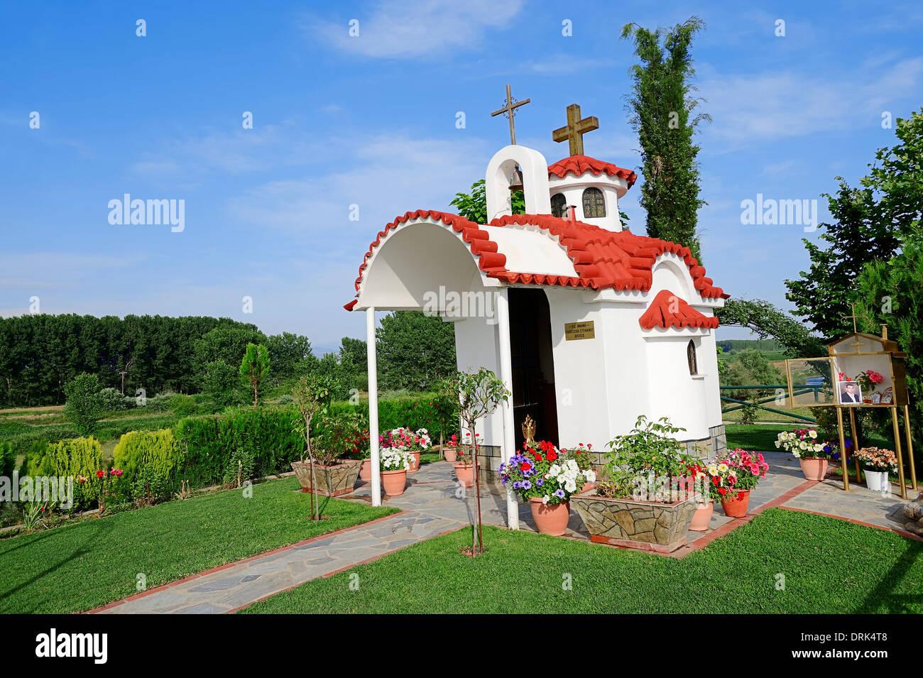 Chapel, Central Makedonia, Greece - Stock Image