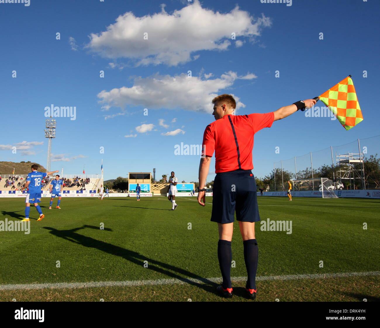 La Manga Spain 27th January 2014 Aik V Molde Fk Copa Del Sol At