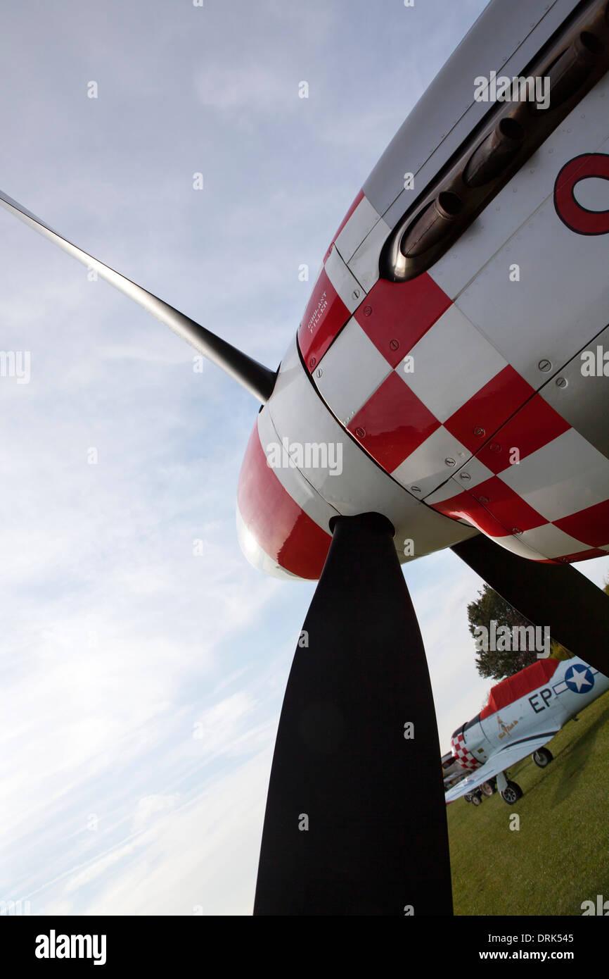 P51D mustang aircraft propeller - Stock Image