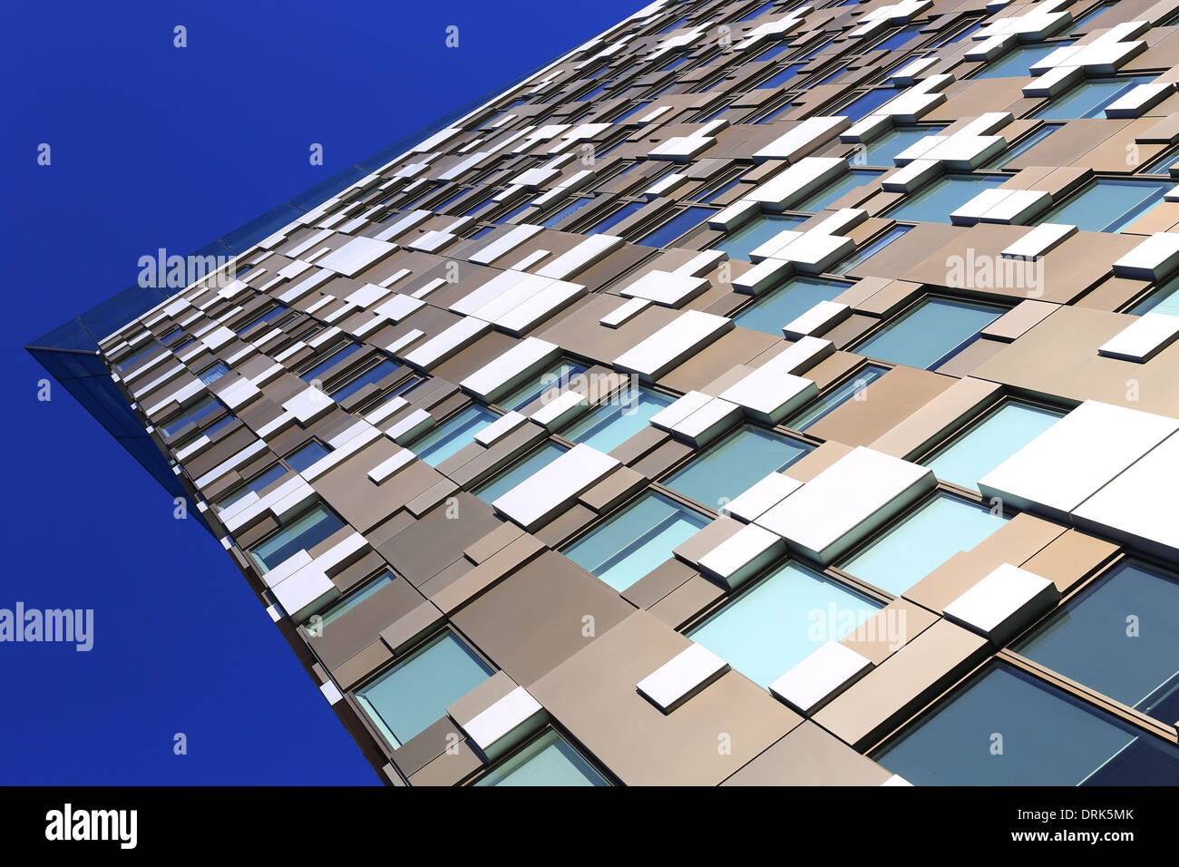 The Cube, Birmingham, England,The cube Birmingham home of Hotel Indigo and Marco Pierre White, designed by Ken Shuttleworth - Stock Image