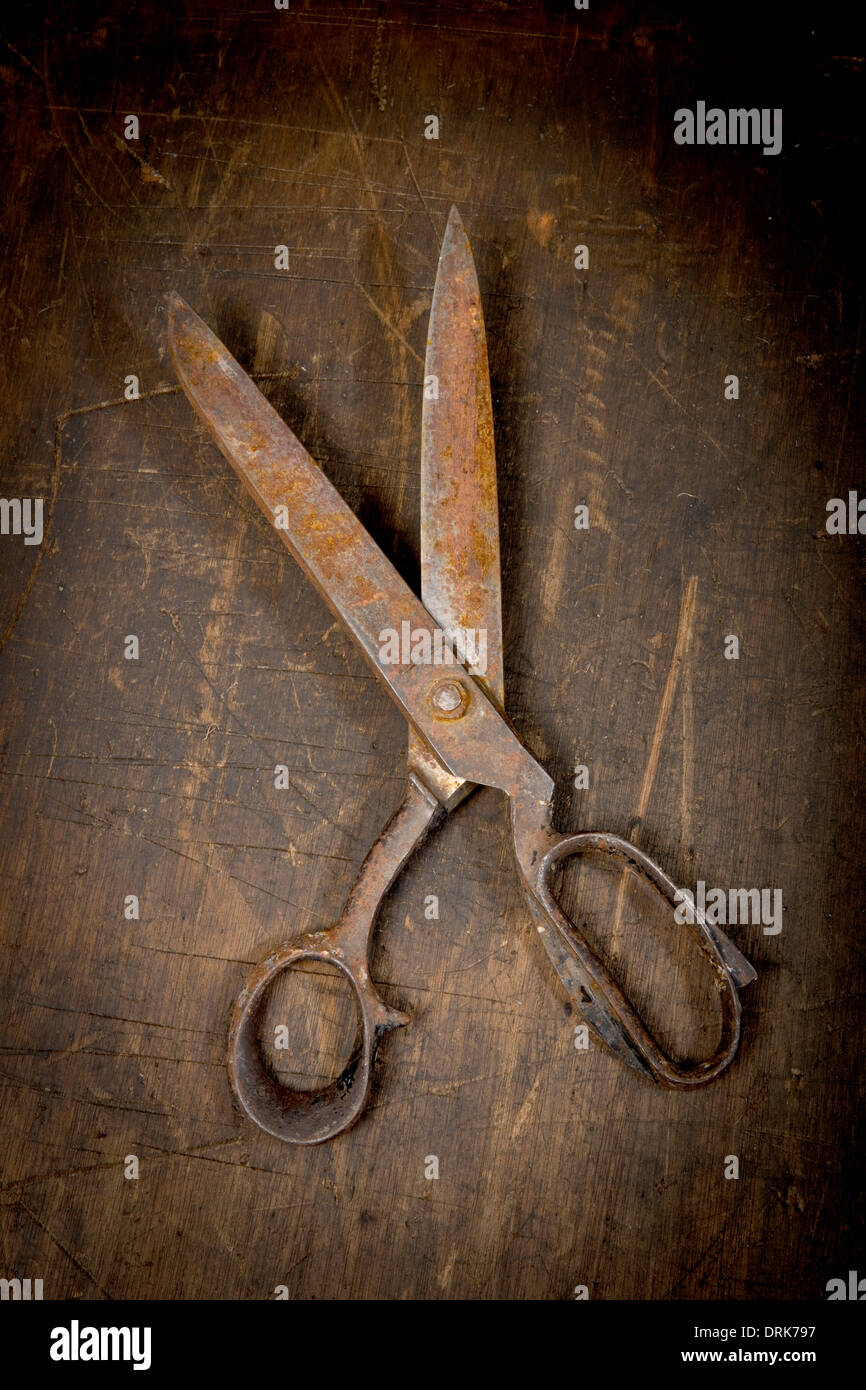 Rusty, scissors, close up Stock Photo