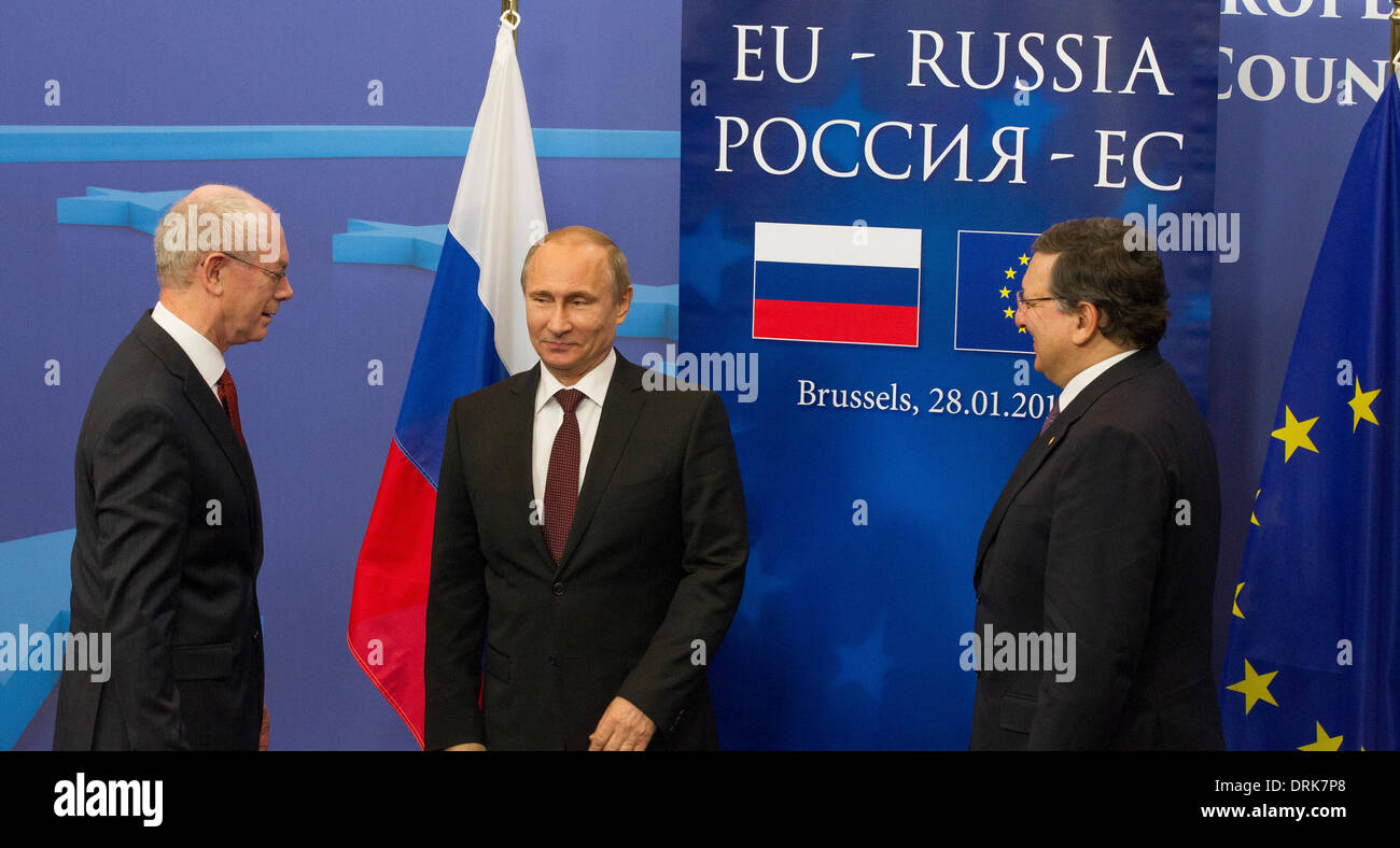 president russia vladimir putin speaking in europe - Stock Image