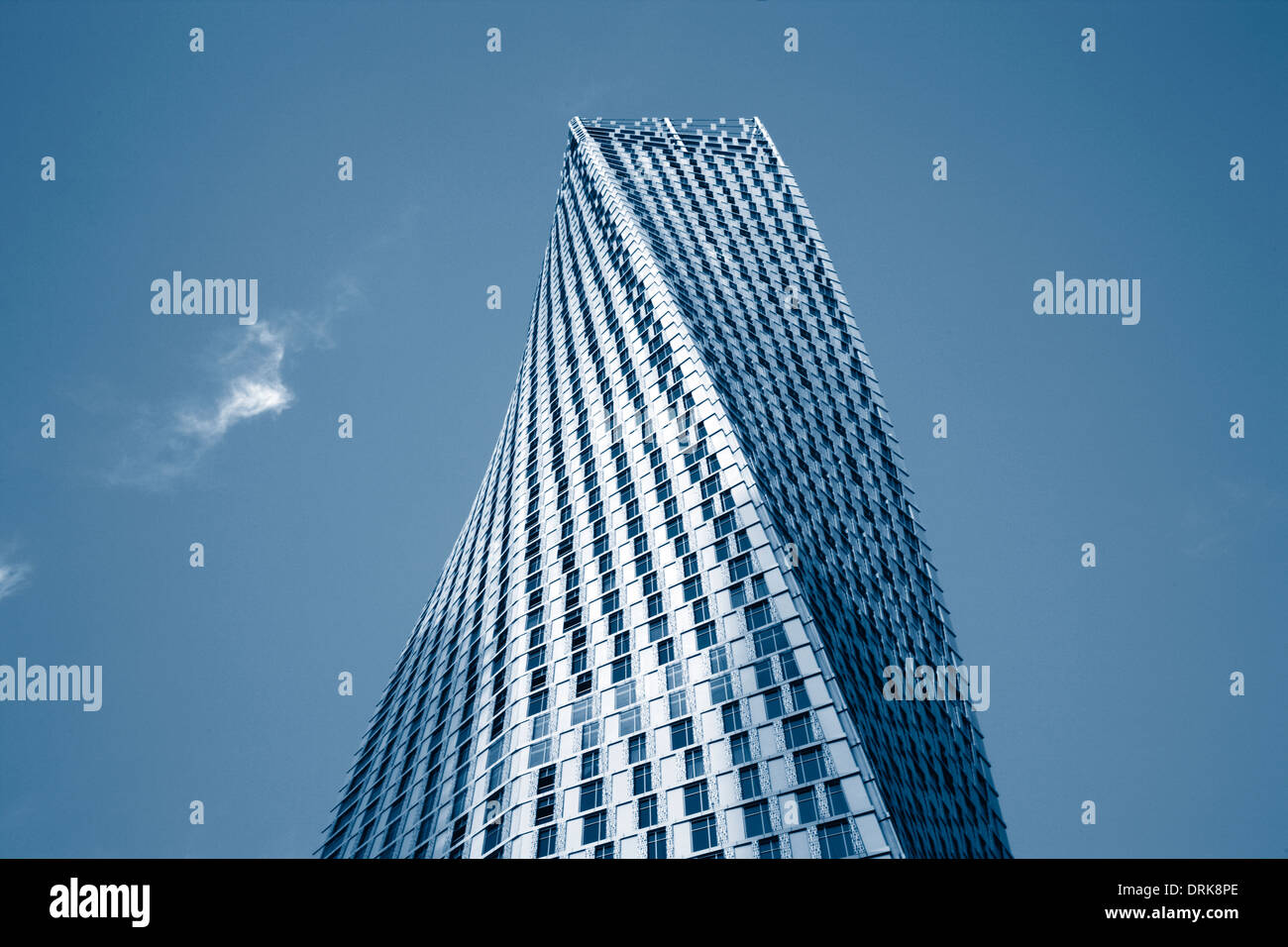 Twisted tower, Dubai Marina (Cayan tower). - Stock Image