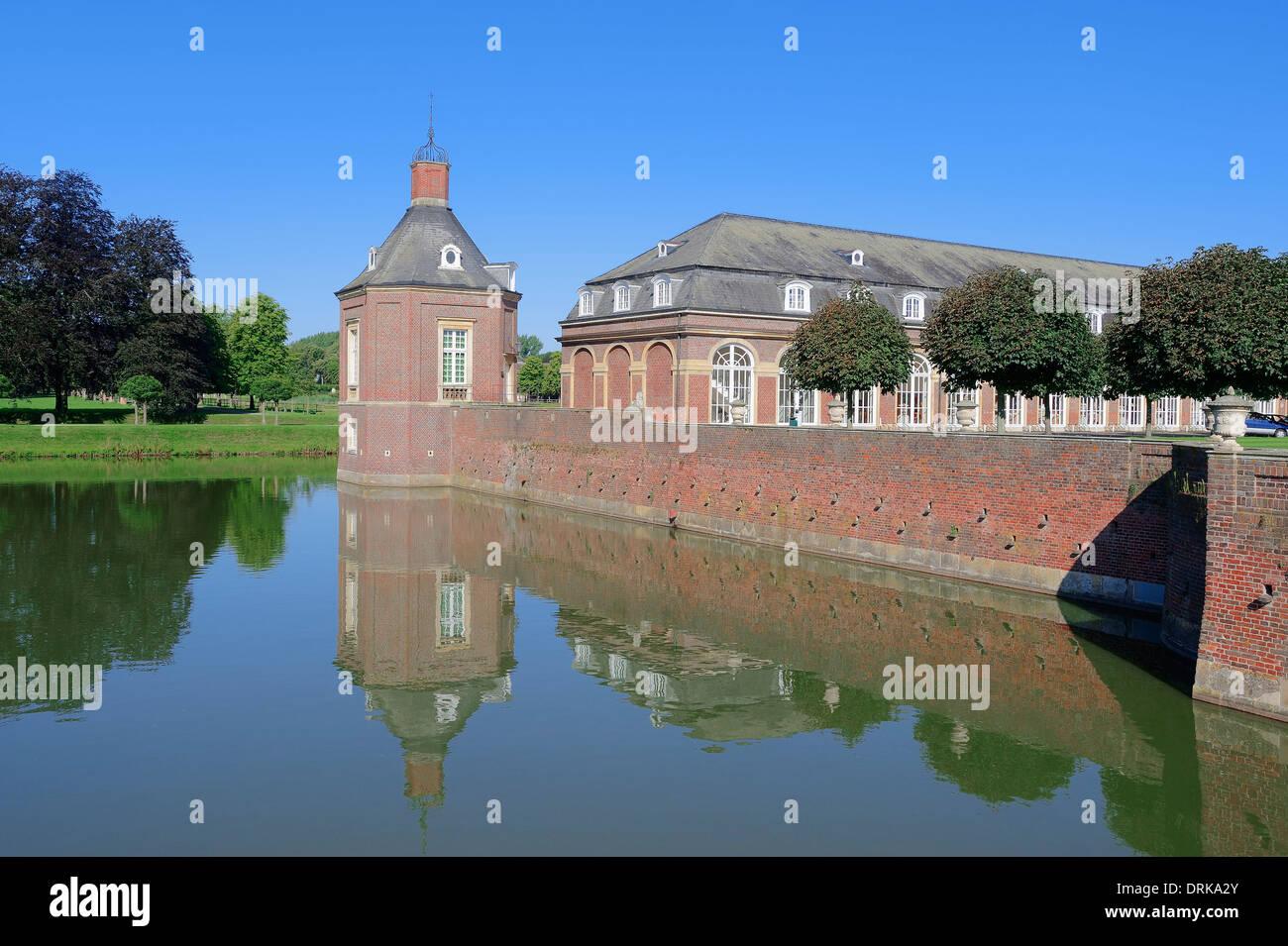 Moated Castle Nordkirchen, North Rhine-Westphalia, Germany, Europe Stock Photo