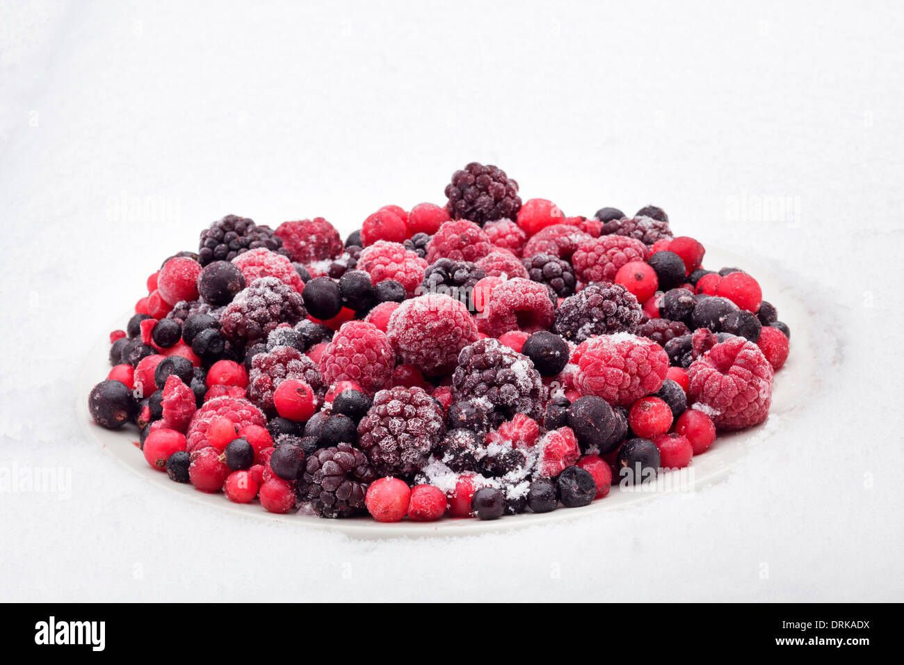 Frozen berries - Stock Image