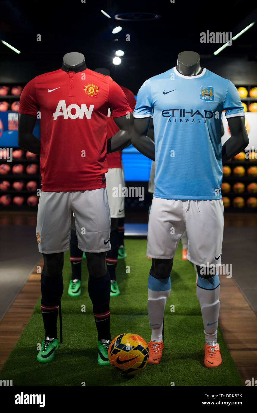 Manchester United vs Manchester City - Stock Image