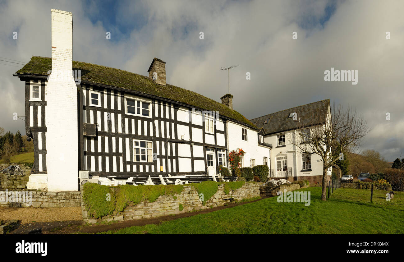 Rhydspence Inn panorama - Stock Image