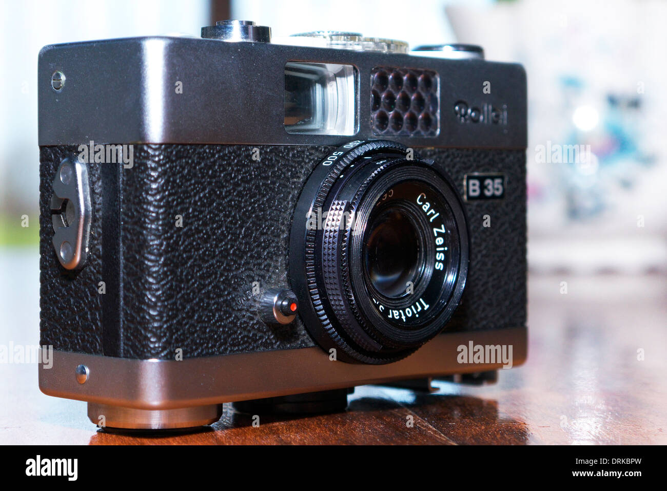 A Rollei B35 compact 35mm camera with Carl Zeiss Triotar lens. Stock Photo
