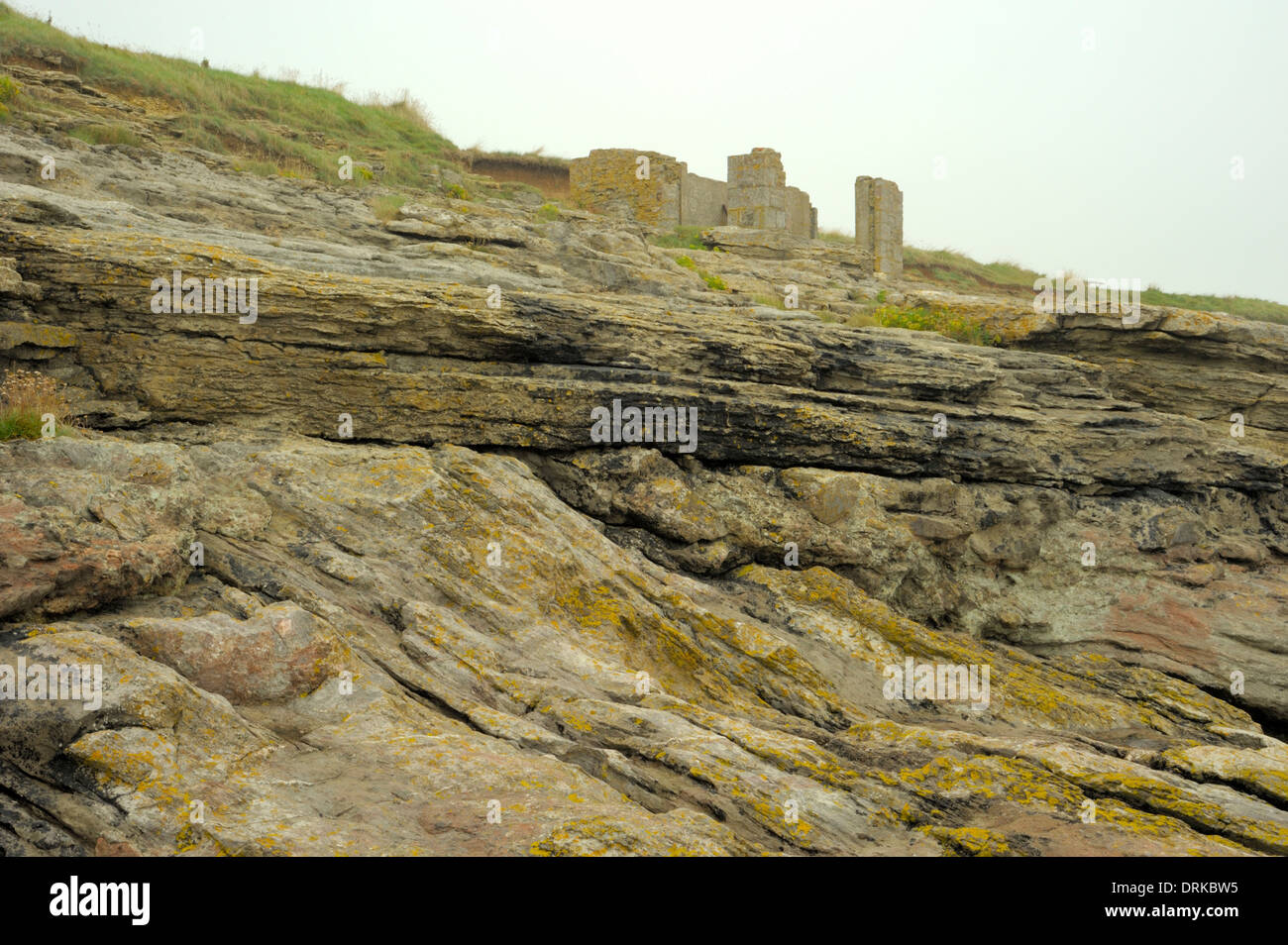 A Geological Unconformity - Stock Image