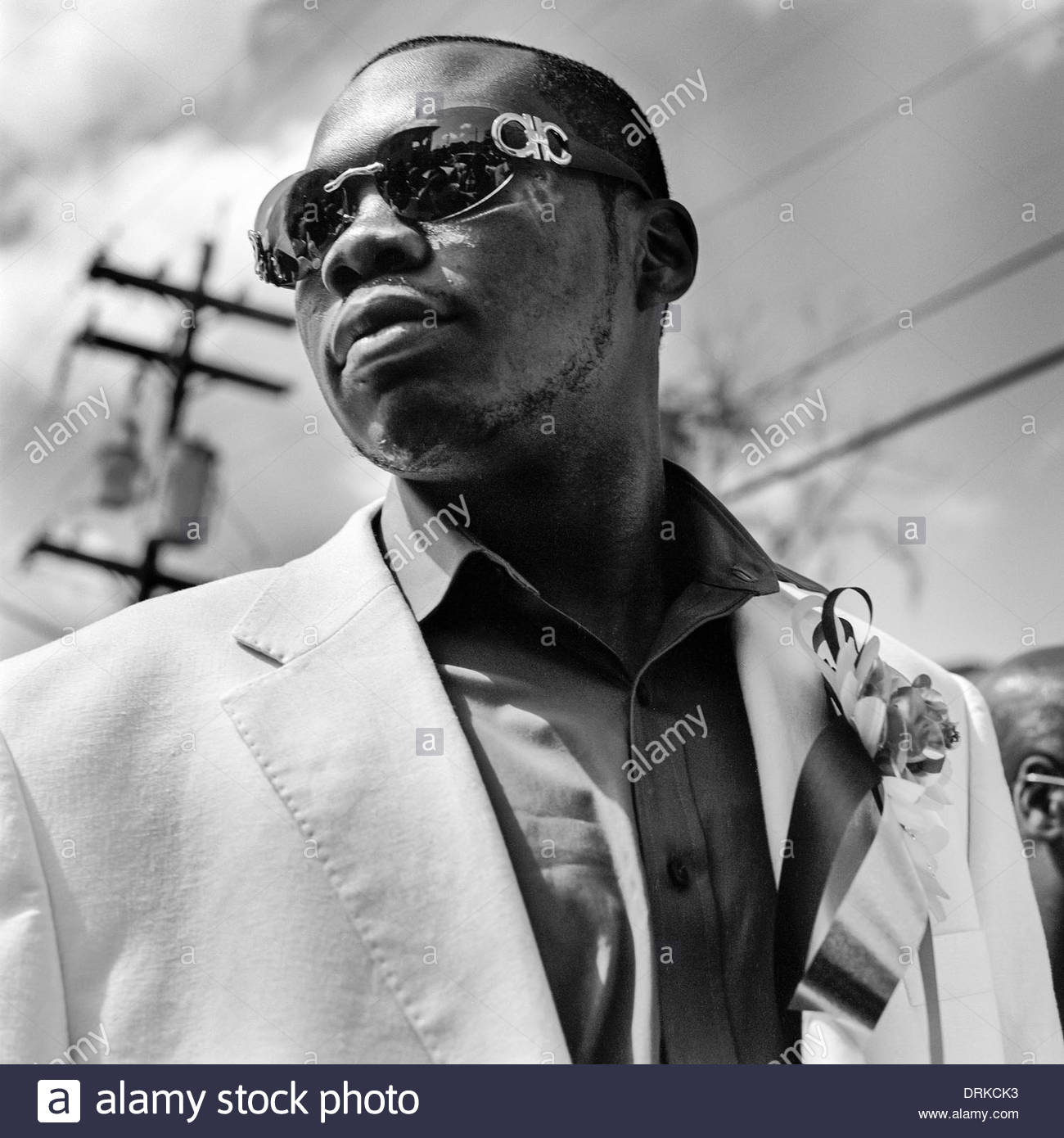 Participant during VIP Ladies Social Aid and Pleasure Club annual Second Line Parade, New Orleans, Louisiana, United States - Stock Image