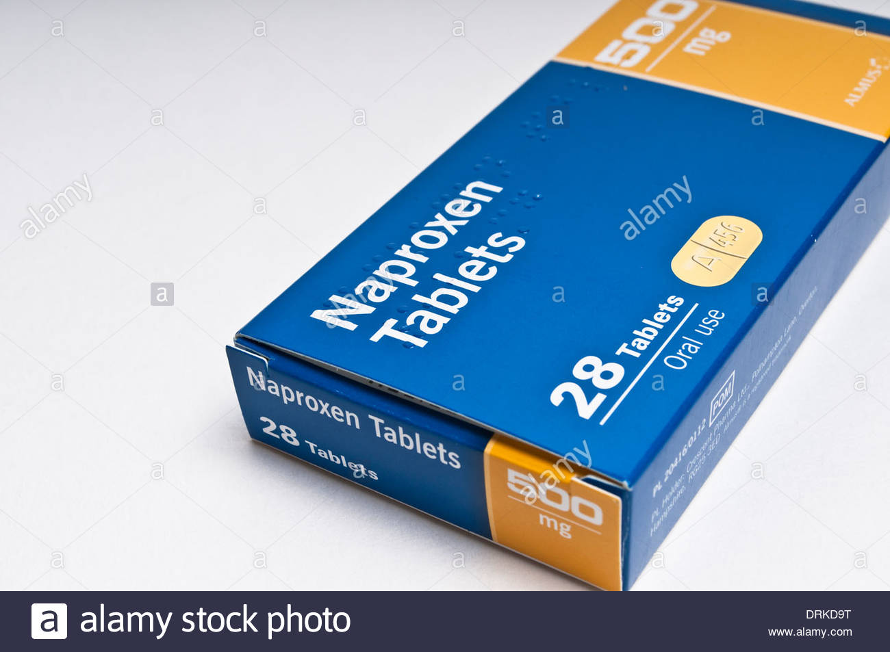Box of Naproxen tablets used to treat arthritis - Stock Image