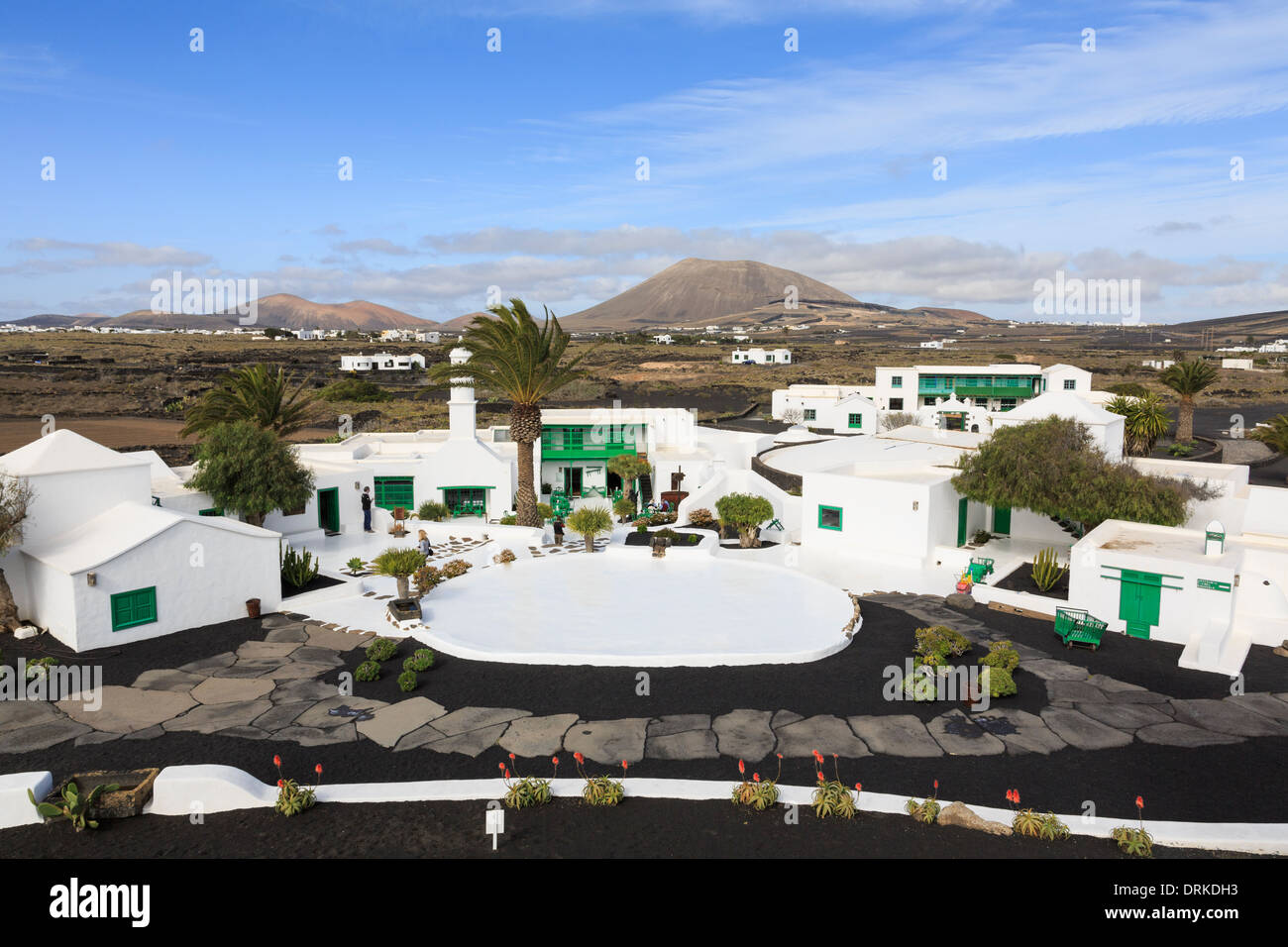 Casa Museo y Monumento al Campesino Visitors Centre and museum in Canarian style architecture. Lanzarote Canary Islands - Stock Image