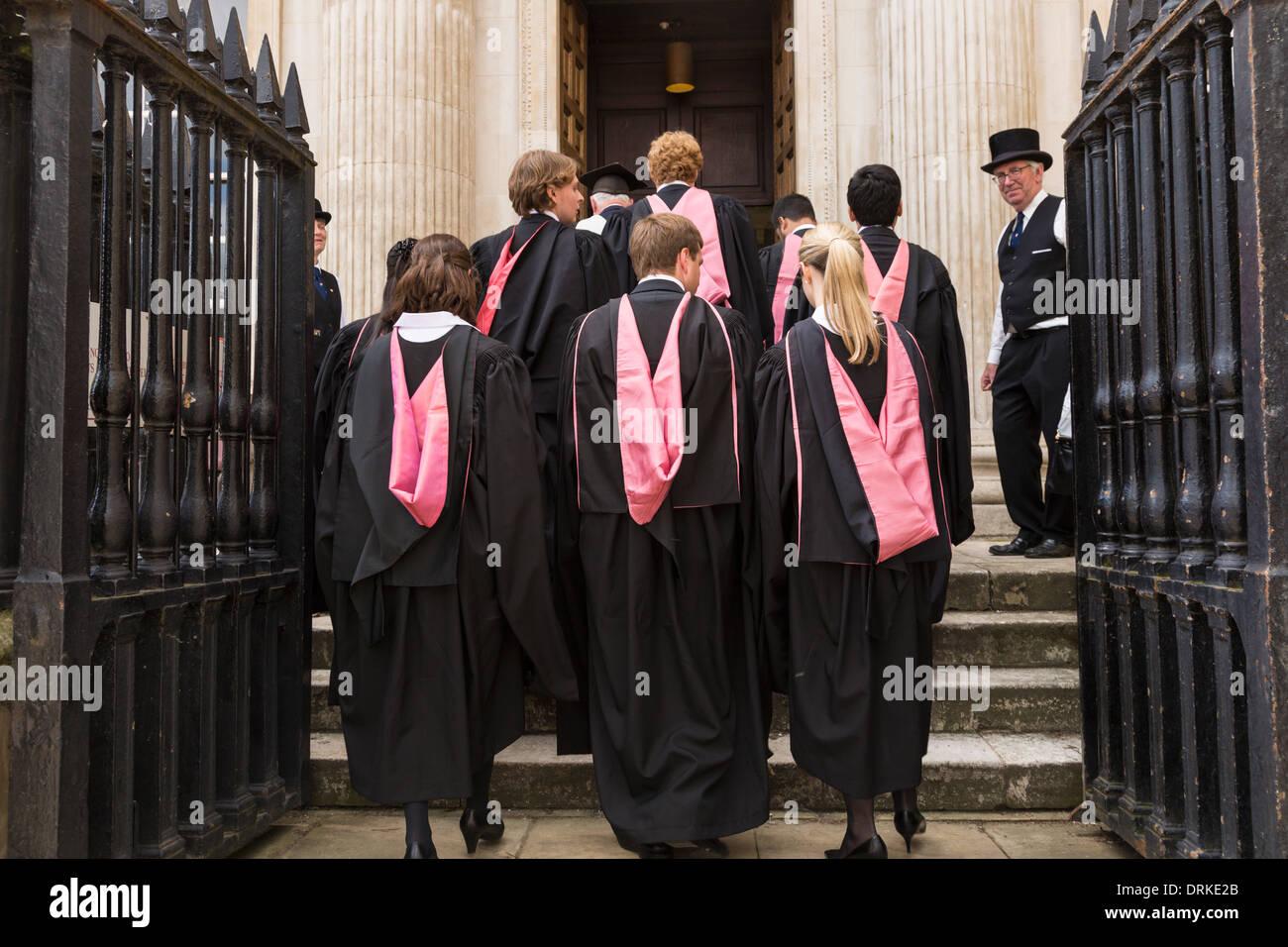 Cambridge University graduates Senate House to receive degree, England - Stock Image