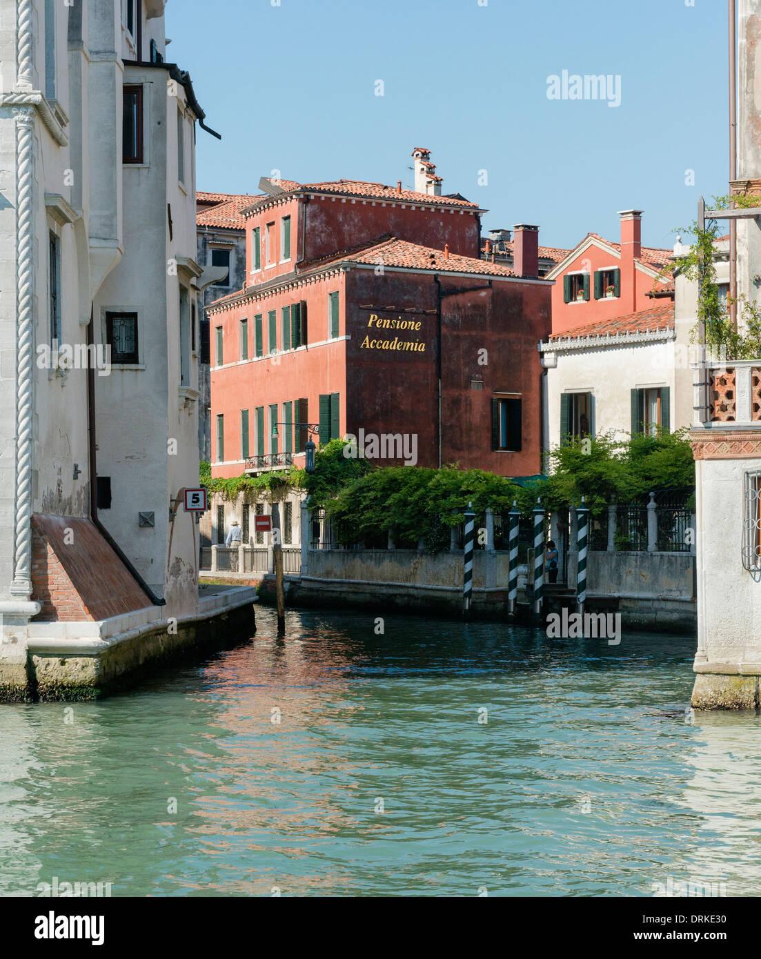 Pensione Accademia in Venice - Stock Image