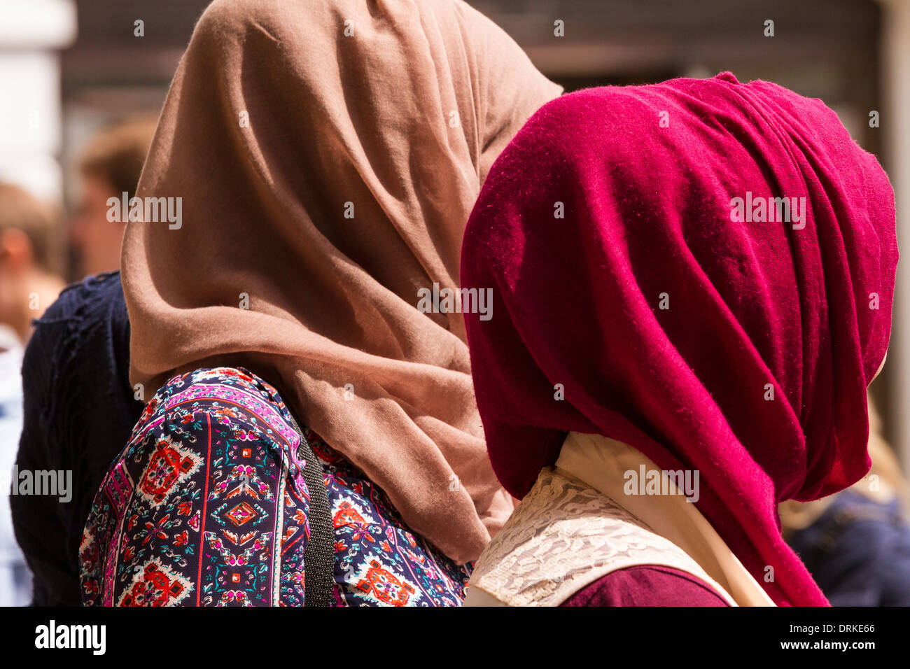 Muslim women head covering - Stock Image