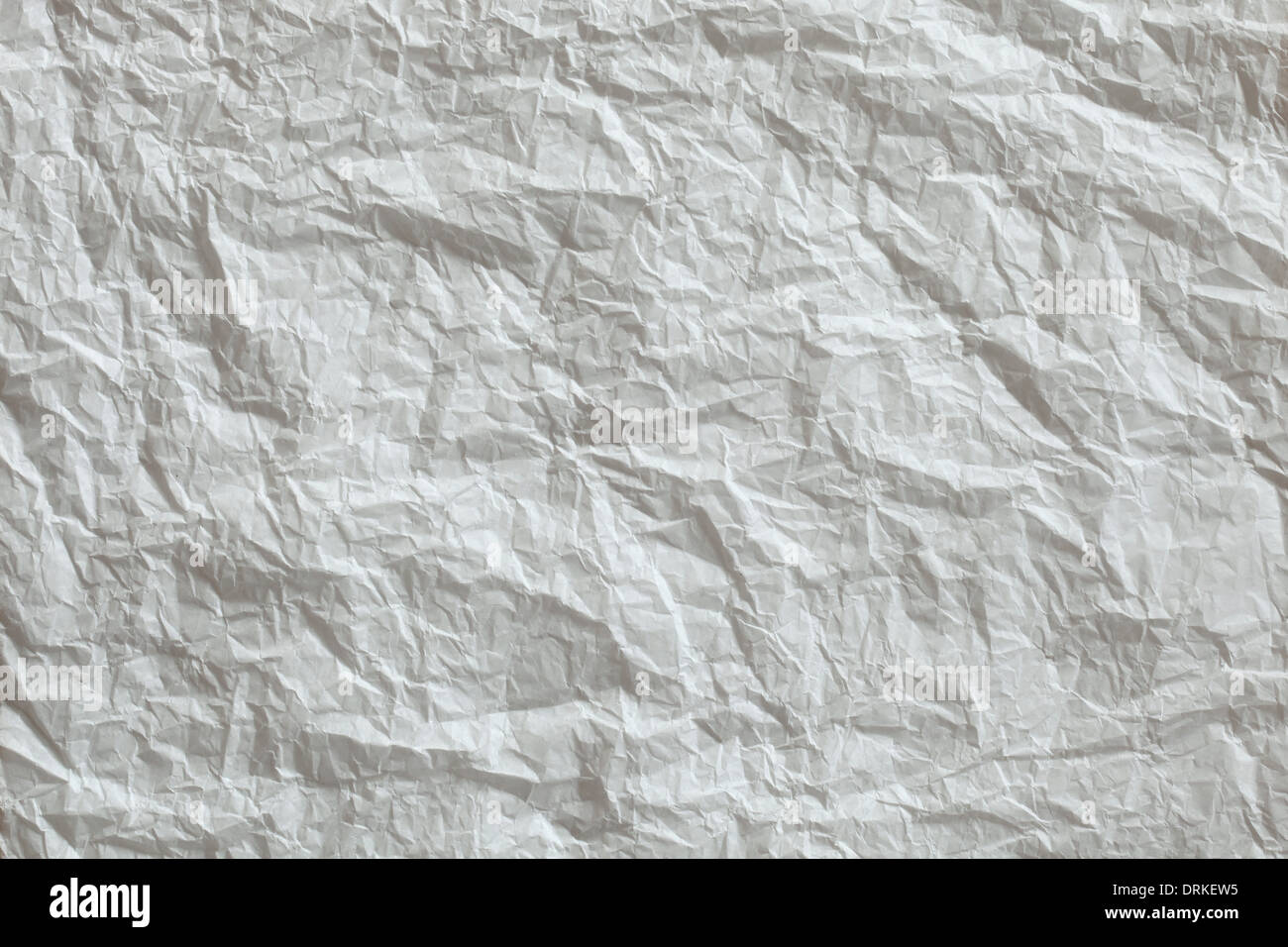 White crumpled paper texture - Stock Image