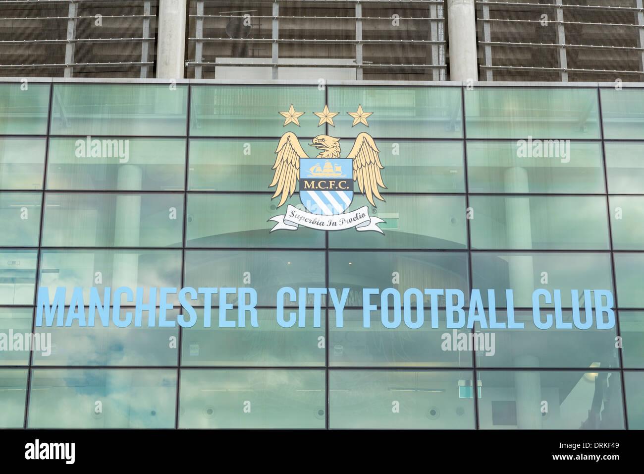 Manchester City Etihad football stadium - Stock Image