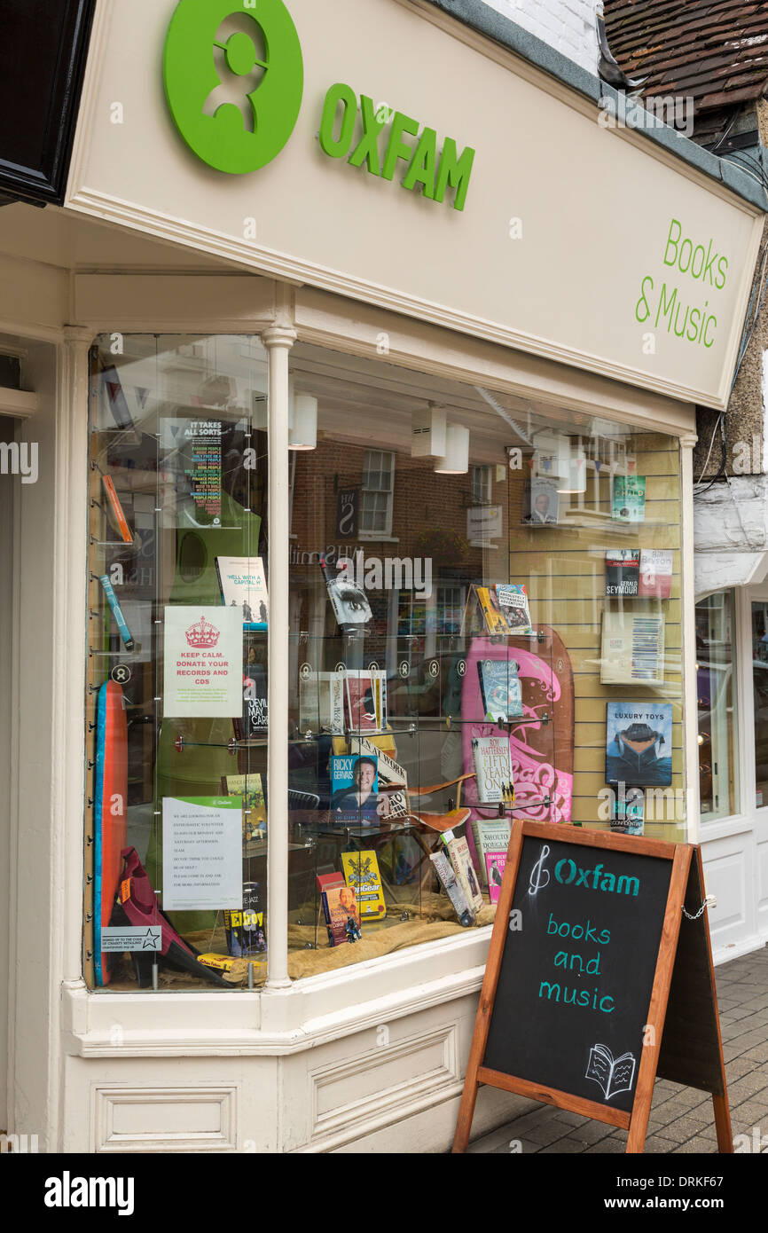 Oxfam charity shop front - Stock Image