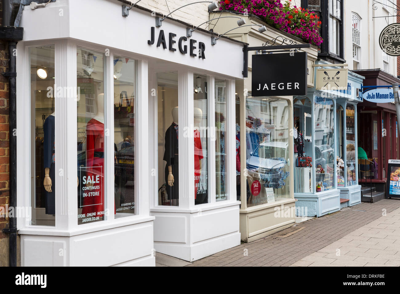 Jaeger fashion shop window Stock Photo - Alamy