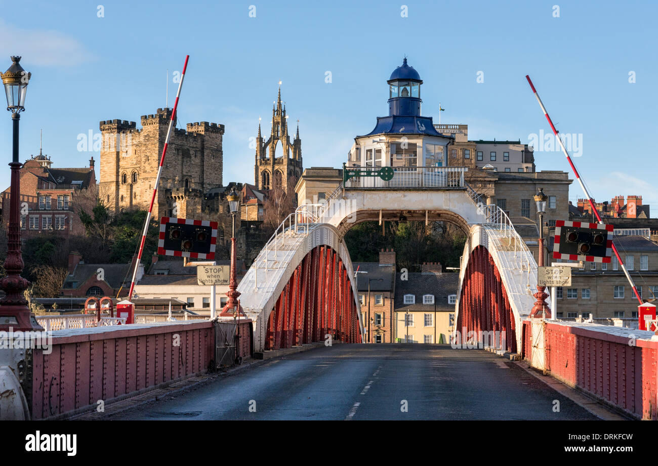 The Swing Bridge between Newcastle-upon-Tyne and Gateshead - Stock Image