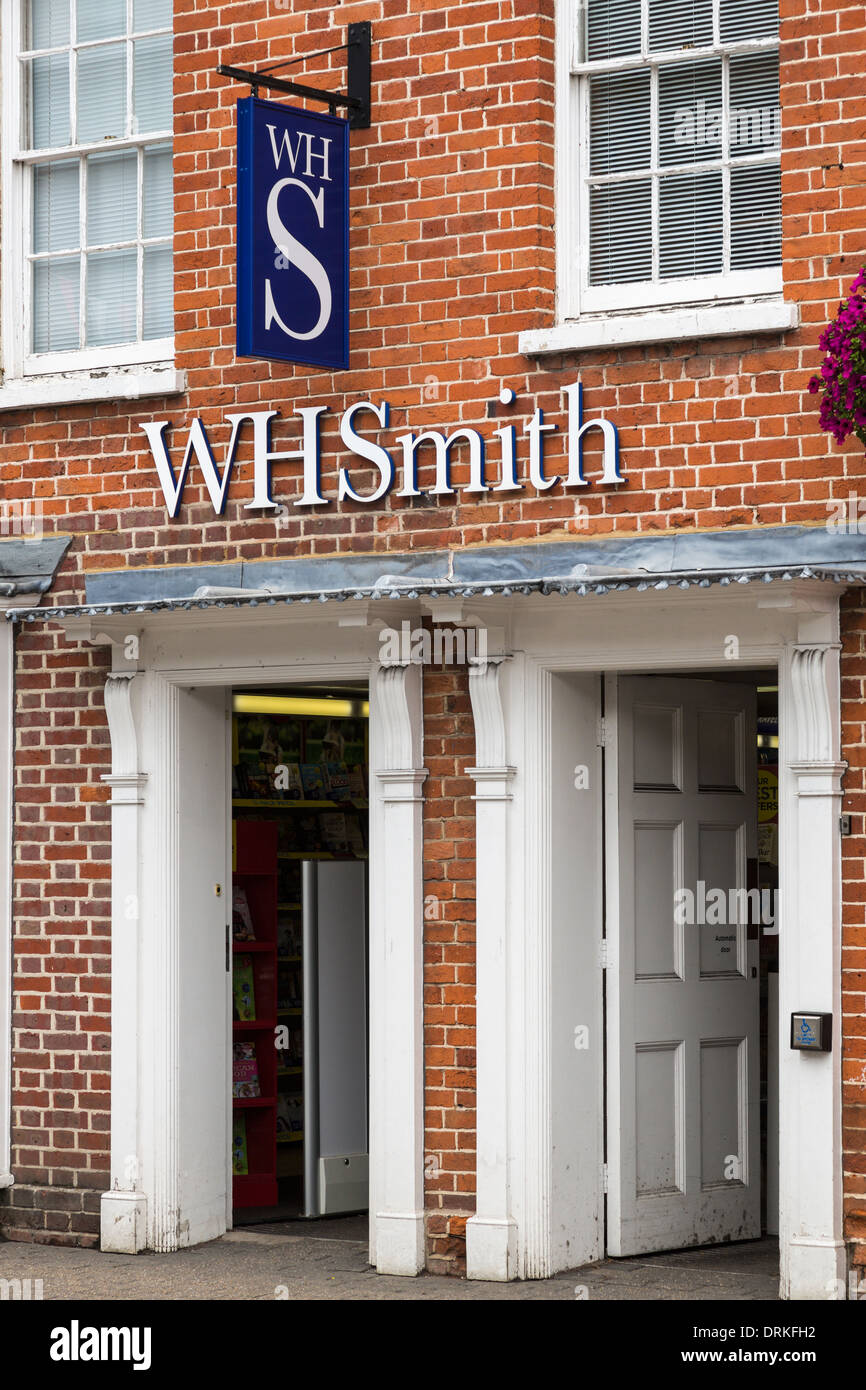 WH Smith stationers shop logo - Stock Image