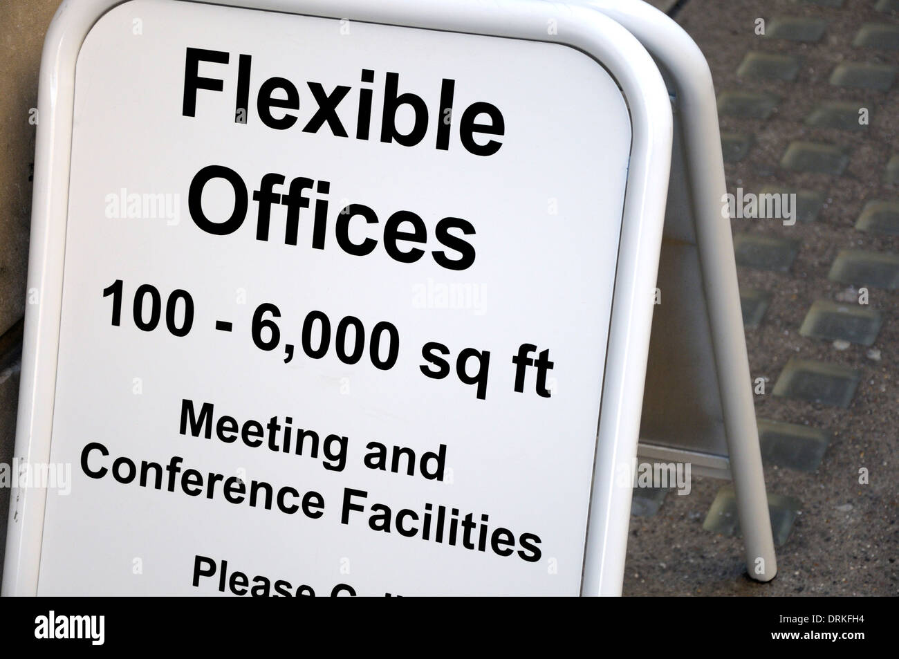 London, England, UK. Sign in the street - Flexible Office space - Stock Image